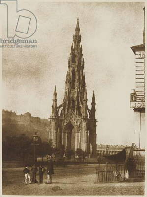 The Scott Monument, Edinburgh, 2 May 1845 (calotype)