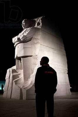 President Barack Obama at the Martin Luther King, Jr. National Memorial. Oct. 14, 2011