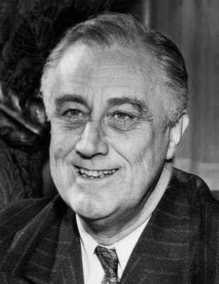 President Franklin D. Roosevelt (1882-1945), U.S. President 1933-1945, on his 59th birthday, January 30, 1941