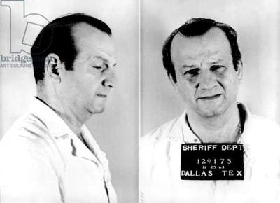 Jack Ruby, mug shot, Dallas, TX, 11/25/63