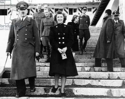 From left, front, Adolf Hitler, Eva Braun, c. 1940