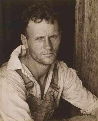 Floyd Burroughs, sharecropper. Hale County, Alabama. Published in the book, 'Let Us Now Praise Famous Men'. photograph by Walker Evans, July, 1936