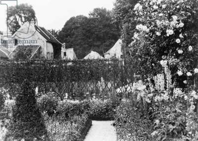 Edith Wharton's French villa at St. Brice-sous-Forêt, with garden in foreground. 1925 photograph by Frances Benjamin Johnston