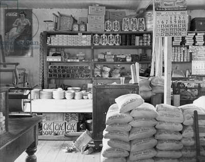 General Store interior, photograph by Walker Evans, Moundville, Alabama, Summer, 1936