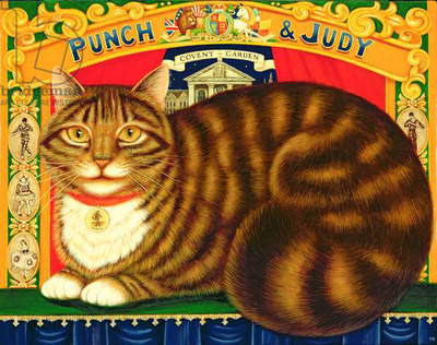 Muffin, The Covent Garden Cat, 1996 (oil & tempera on panel)