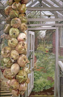 Greenhouse and Garden, 1937 (oil on canvas)