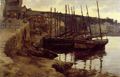 At their Moorings, 1906 (oil on canvas)