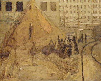 Building Site, Victoria Street, 1959 (oil on board)