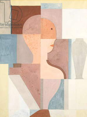 Divided Torso Looking to the Right, 1923 (gouache & pencil on paper)