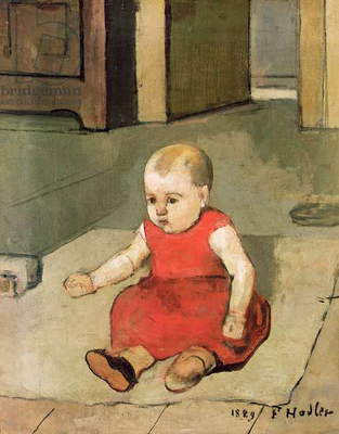 Little Hector on the floor, 1889 (oil on canvas)