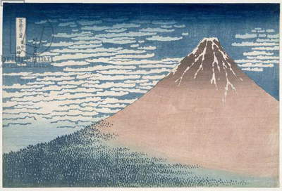 South Wind, Clear Dawn, from the series '36 Views of Mount Fuji', c.1830-1831 (woodblock print)