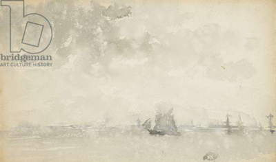 Grey and Silver - North Sea, c.1884 (w/c on wove paper)