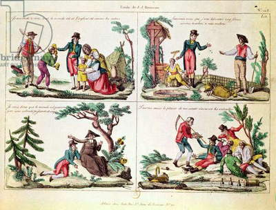 Illustrations from 'L'Emile' by Jean-Jacques Rousseau (1712-78) (coloured engraving)