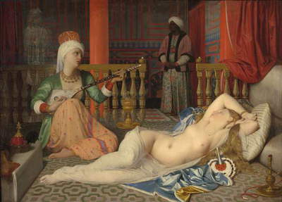 Odalisque with a Slave, 1839-40 (oil on canvas)