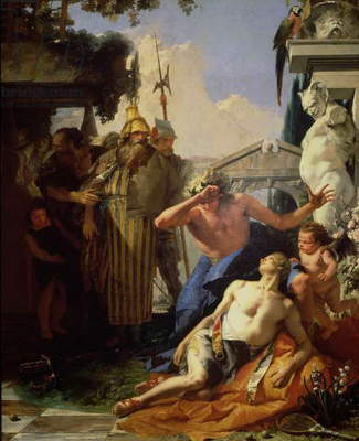The Death of Hyacinthus, c.1752-53 (oil on canvas)