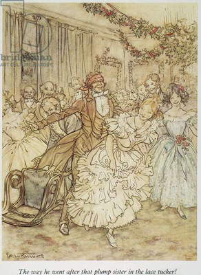 CHRISTMAS CAROL Christmas at the home of Scrooge's nephew, Fred. Illustration by Arthur Rackham for Charles Dickens'