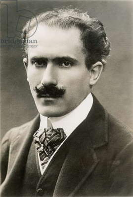 ARTURO TOSCANINI (1867-1957). Italian orchestral conductor. Photographed in New York in 1914.