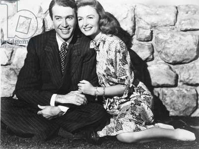 JAMES STEWART (1908-1997) American actor. With Donna Reed in the 1946 film 'It's a Wonderful Life.'