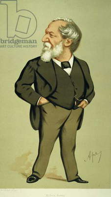 ROBERT BROWNING (1812-1889). English author. Caricature lithograph, 1875, by 'Ape' (Carlo Pellegrini).