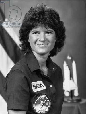 SALLY RIDE (1951-2012) American physicist and NASA astronaut. Photograph, 1984.