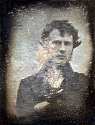ROBERT CORNELIUS (1809-1893). Self-portrait daguerreotype by Robert Cornelius, 1839.