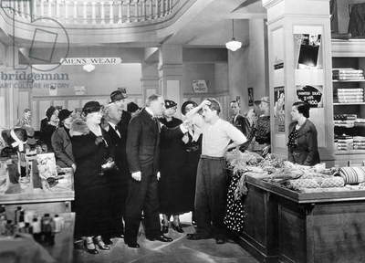CHAPLIN: MODERN TIMES, 1936 Charlie Chaplin in a scene from the film, 'Modern Times,' 1936.