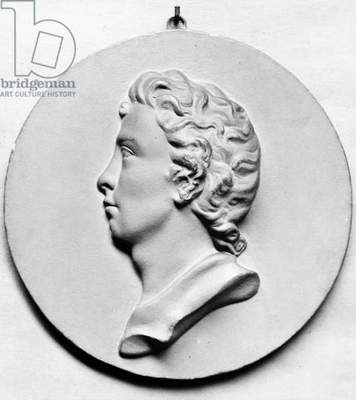 PERCY BYSSHE SHELLEY (1792-1822). English poet. Plaster cast of a medallion attributed to Marianne Leigh Hunt.