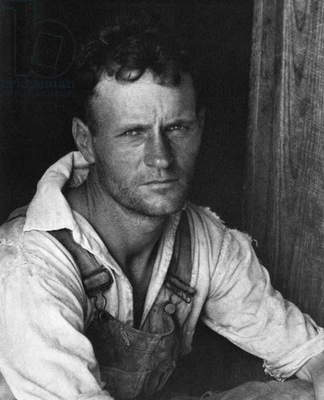 COTTON SHARECROPPER, 1935 Hale County, Alabama. Photographed by Walker Evans, 1935.