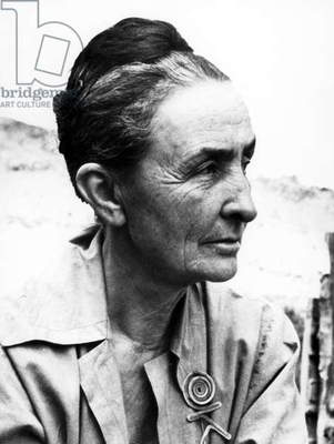 GEORGIA O'KEEFFE (1887-1986). American painter. Photographed 1962.