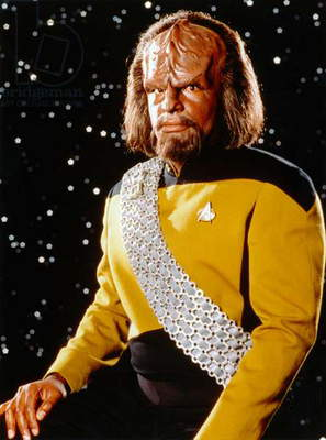 STAR TREK: WORF, c.1987 The character of Worf, played by Michael Dorn, in Star Trek: The Next Generation. Photograph, c.1987.