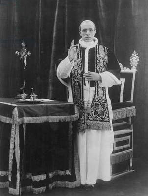 POPE PIUS XII (1876-1958) Pope, 1939-58. Photograph, 1940s.