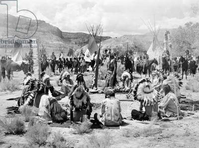 FILM STILL: NATIVE AMERICANS A scene from the film 'Buffalo Bill.'