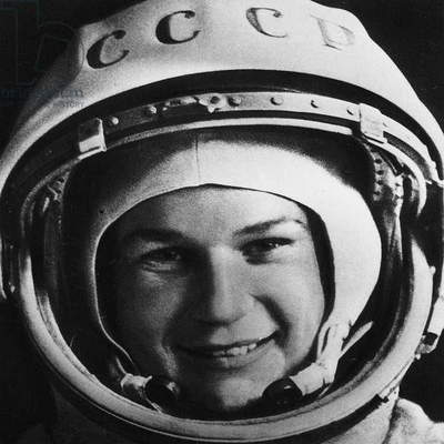 VALENTINA TERESHKOVA (1937-). Soviet cosmonaut and first woman to visit outer space. Photograph, 1960s.