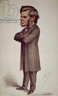 THOMAS H. HUXLEY (1825-1895) English biologist. Lithograph caricature, 1871, by Carlo Pellegrini ('Ape').