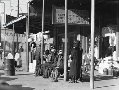 ALABAMA: SELMA, 1935 Group of people outside a general store in Selma, Alabama. Photograph by Walker Evans, 1935.