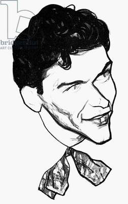 FRANK SINATRA (1915-1998) American singer and actor. Caricature by William Auerbach-Levy.