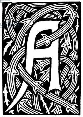 DECORATIVE INITIAL, 1893 Designed by Aubrey Beardsley, 1893.