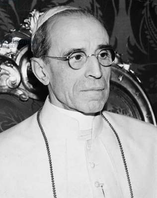 POPE PIUS XII (1876-1958) Pope, 1939-58. Photographed in February 1947.