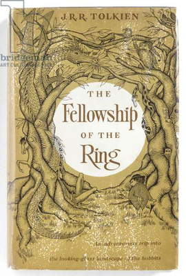 TOLKIEN: THE RING, 1954 Title page of 'The Fellowship of the Ring' by J.R.R. Tolkien, published in 1954.