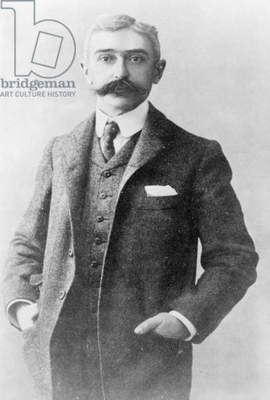PIERRE DE COUBERTIN (1863-1937). Pierre de Frédy, Baron de Coubertin. French educator, historian, and promoter of the modern Olympic Games. Photograph, 1915.