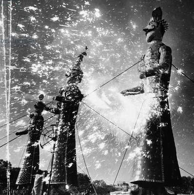 INDIA: FIREWORKS, 1960 Fireworks display during a holiday celebration in India, 1960.