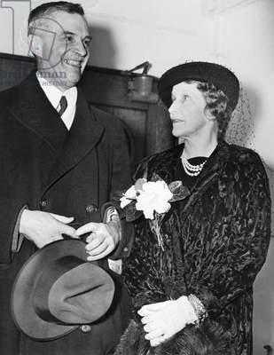 LORD & LADY ASTOR, 1938 Waldorf Astor, 2nd Viscount Astor and his wife, Nancy Langhorne Astor on board the ocean liner Berengaria sailing from New York to England, 1938.