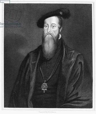 THOMAS SEYMOUR (1508-1549) Baron Seymour of Sudeley. English nobleman. Line and stipple engraving.