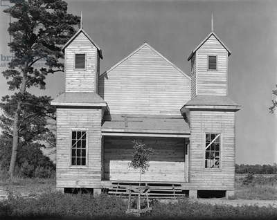 RURAL CHURCH, 1936 A rural church in the Southeast. Photograph by Walker Evans in 1936.