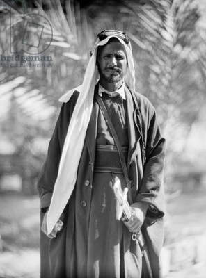 MIDDLE EAST: BEDOUIN SHEIKH A Bedouin sheikh in the Middle East. Photograph, 1932.