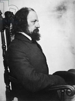 ALFRED TENNYSON (1809-1892) 1st Baron Tennyson. English poet. Photographed c.1863 by O.G. Rejlander.