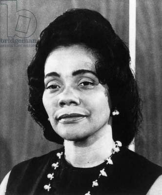 CORETTA SCOTT KING (1927-2006). American civil rights leader; wife of Martin Luther King, Jr. Photographed in 1973.