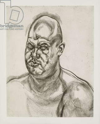 Large head, 1993 (etching on paper)