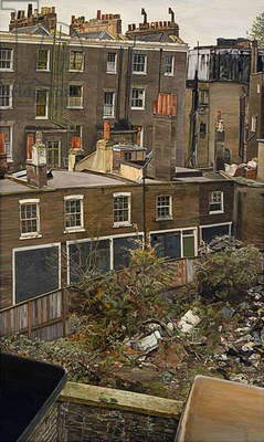 Wasteground with Houses, Paddington, 1970-72 (oil on canvas)