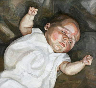 Baby on a Green Sofa, 1961 (oil on canvas)